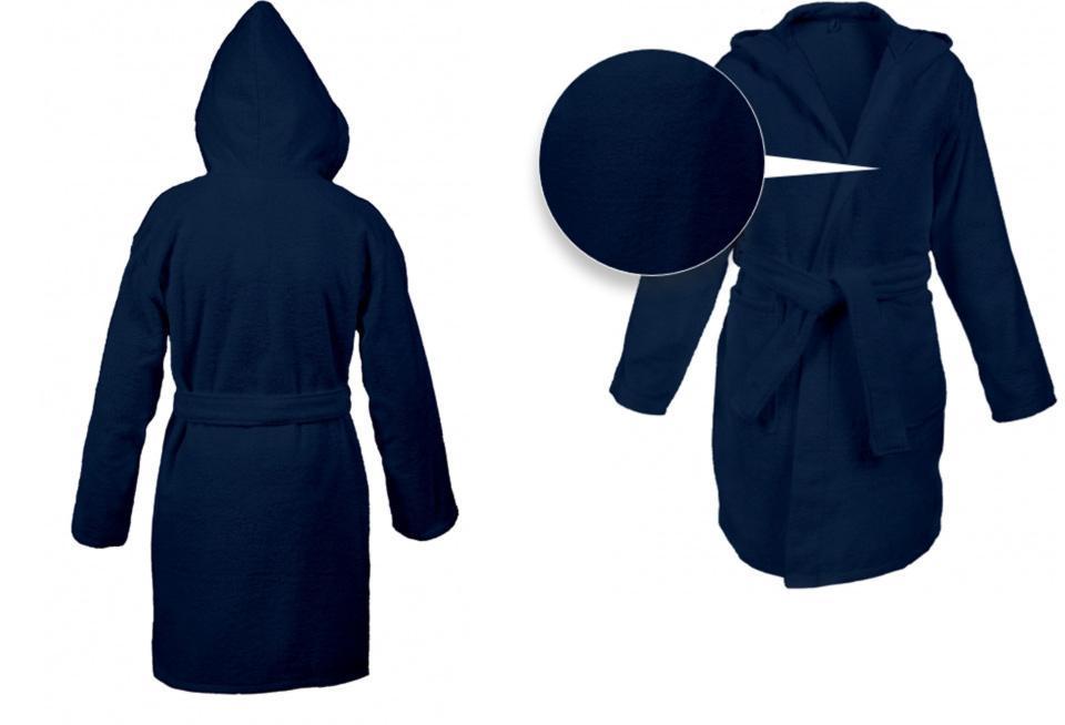 Халат с капюшоном премиум качества с вышивкой